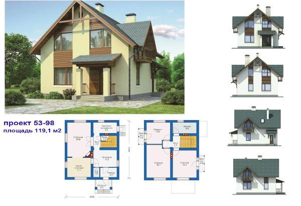 Проекты домов, коттеджей, дачных домов, - Dadomuru